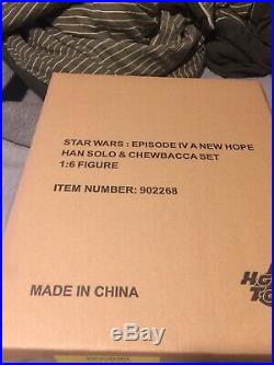 New Hot Toys MMS263 1/6 Star Wars A New Hope Han Solo & Chewbacca 1/6 Set