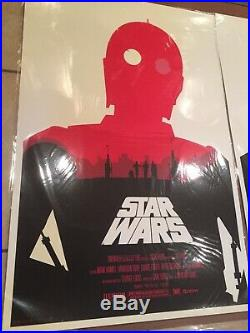 Olly Moss signed Star Wars Trilogy set Mondo