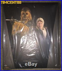 Ready! Hot Toys MMS376 Star Wars VII The Force Awakens Han Solo & Chewbacca Set