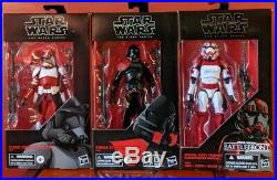STAR WARS BLACK SERIES Clone Commander Fox Purge Trooper Shock Trooper Set