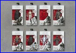 STAR WARS Black Series RISE OF SKYWALKER 6 First Edition WHITE BOX Set Of 8