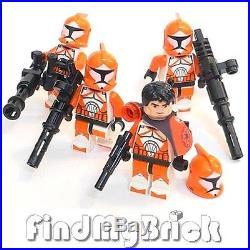 SW148 II x4 Lego Star Wars 4x Bomb Squad Trooper Minifigures 7913 NEW