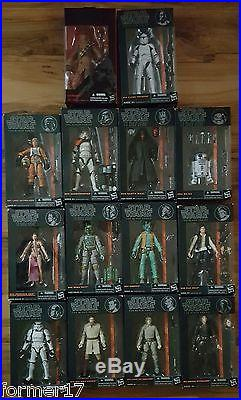 Star Wars Black Series 6 Inch Action Figures Entire Phase 1 Set Anakin Skywalker