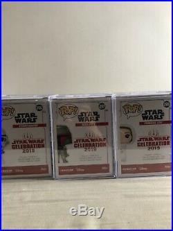 Star Wars Celebration Chicago 2019 Funko Exclusive Blue Chrome Pop Full Set Six
