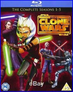 Star Wars-Clone Wars Season 1-5 Blu Ray Season 1 2 3 4 5 Box Set