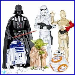 Star Wars Darth Vader Storm Trooper Yoda C-3po R2-d2 Bb-8 Set Swarovski Crystal