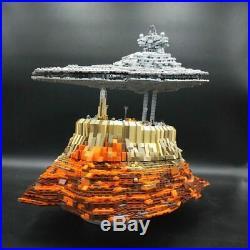 Star Wars Destroyer Empire Ship Over Jedha City Building Blocks Sets MOC 18916