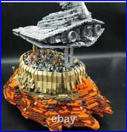 Star Wars Destroyer Empire Ship Over Jedha Model Building Blocks MOC Sets 18916