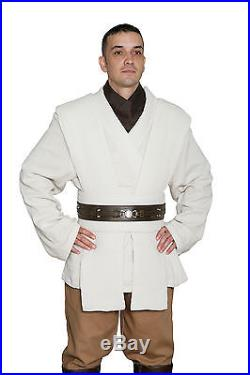 Star Wars Obi Wan Kenobi Costume + Dark Brown Jedi Robe Film Set Quality from UK