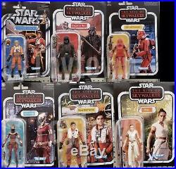 Star Wars Rise Of Skywalker Set Of 6 3.75 IN Rey Sith Poe Ren Luke 2019 Presale