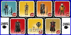 Star Wars The Mandalorian Retro Collection Full set of 3.75 Action Figures