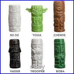 Star Wars Tiki Mug 6 Set Darth Vader Yoda Stormtrooper Boba Fett Chewbacca R2-d2