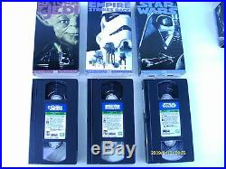 Star Wars Trilogy (VHS, 1995, 3-Tape Set)