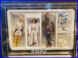 Star Wars Vintage Early Bird Set withDT Luke Skywalker MINT COMPLETE AFA READY
