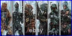 Star wars The bounty hunters by Ken Taylor Set of 6 Rare sold out Mondo