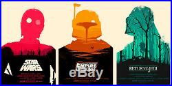 Star wars by Olly moss Set of 3 prints Rare Sold out Mondo print