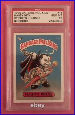 Topps Garbage Pail Kids 1st Series Glossy PSA 10 Gem Mint Variation Set 88 Gems