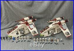 Two LEGO 75021 Star Wars Republic Gunship
