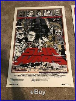 Tyler Stout Original STAR WARS Trilogy Set Mondo Poster Screen Print