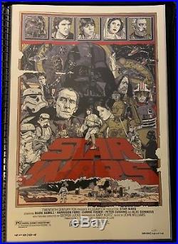 Tyler Stout STAR WARS Set Mondo Poster Print