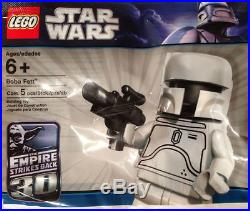 Very Rare Lego Star Wars White Boba Fett Minifigure Polybag Sealed