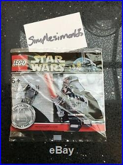 Very Rare Lego Star Wars Chrome Darth Vader Minifigure Promo New Sealed